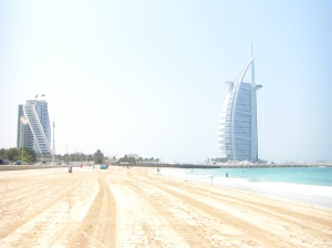 'Burj-al-Arab' and 'Jumairah Beach' hotel....on Jumairah Beach