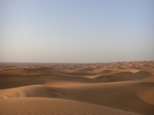 Cars moving in Desert......The distance is around 40 K.M.